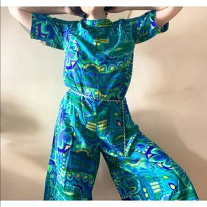 abstract vintage jumpsuit